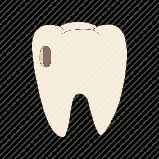 caries, cartoon, cavity, dental, dentist, illness, pain icon