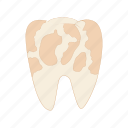 care, cartoon, decay, dental, dentist, spots, tooth icon