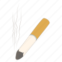 ash, butt, cartoon, cigarette, nicotine, smoke, tobacco icon
