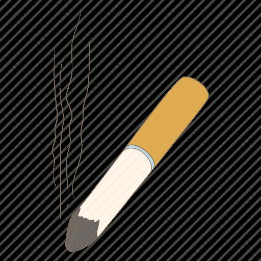 ash, butt, cartoon, cigarette, nicotine, smoke, tobacco icon