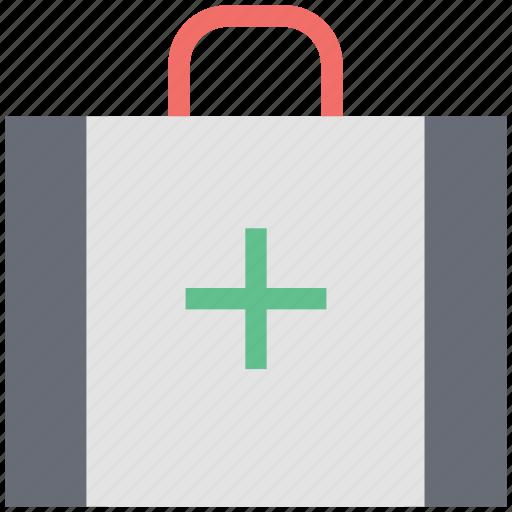 dentist bag, dentist kit, first aid kit bag, health, kit, medicine, pharmacy kit icon