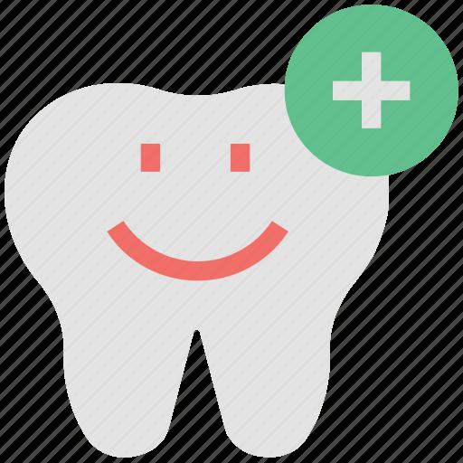 dental, dental add, dental hygienist, dentist, healthy tooth, plus sign, stomatology icon