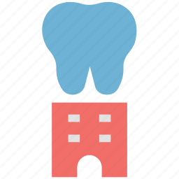 building, dentist, dentist building, dentist clinic, dentistry, medical center icon