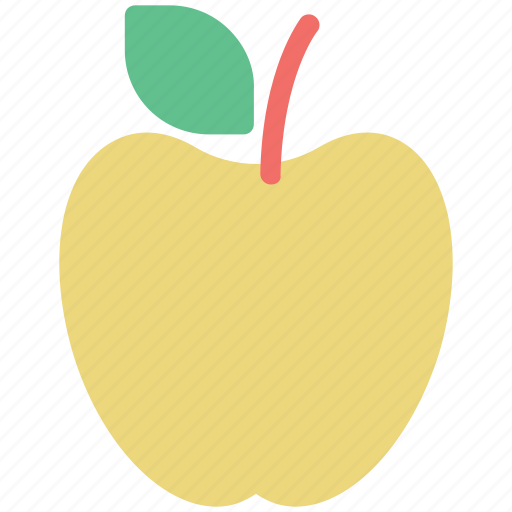 apple, apple with leaf, fresh apple, fruit, healthy, nutrient icon