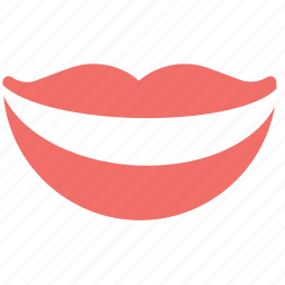female lips, lips, mouth, smile, smiling, smiling lips icon