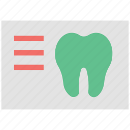 dental care, dental prescription, dental report, dental treatment, medical report, tooth icon