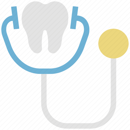 dentist, doctor tool, medical tool, stethoscope, vitals icon