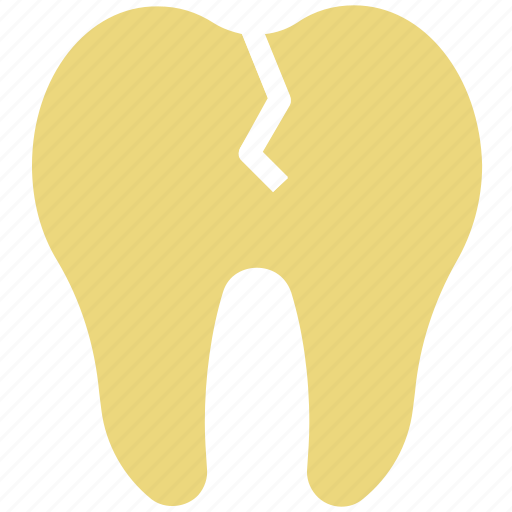 broken tooth, cavity, crack tooth, dental, stomatology, tooth icon