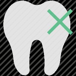 cross sign, delete, dental, dental hygienist, dentist, remove dental, stomatology icon