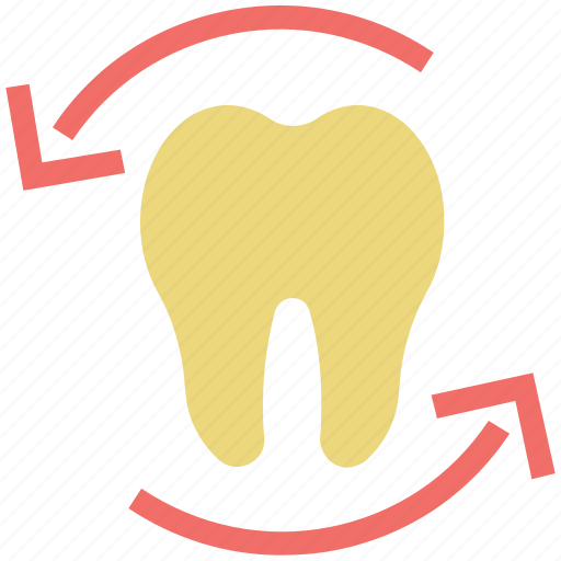 arrows, dental, health care, protection, surrounded, tooth icon