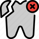 painful, dentist, broken, chipped, damaged, toothache, enamel icon