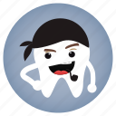 dental, dentist, pirate, tooth icon