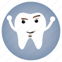 angry, dental, dentist, tooth icon