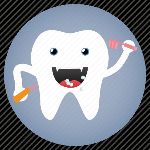 brush, dental, dentist, tooth icon
