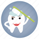 brushing, dental, dentist, tooth icon