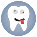 crazy, dental, dentist, tooth icon