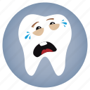 cry, dental, dentist, tooth icon