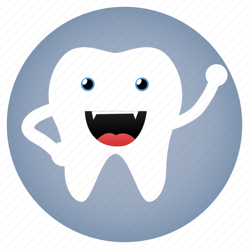 dental, dentist, evil, tooth icon