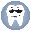 attitude, dental, dentist, glasses, tooth icon