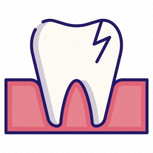 broken tooth, clinic, dental, dentist, dentistry, tooth, toothache icon