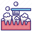 brushing, brushing teeth, dental, healthcare, mouth, teeth, toothbrush