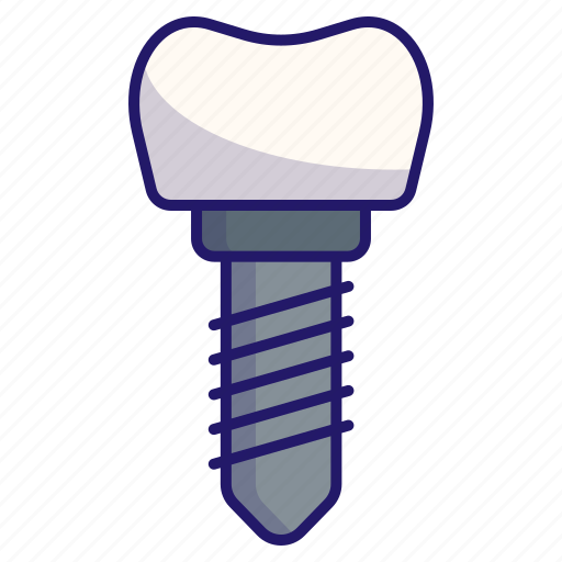 artificial, dental, dental implants, dentistry, implant, medical, tooth icon