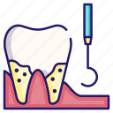 cleaning, dental, healthcare, plaque, tartar, tooth icon