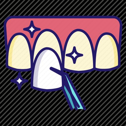 dental, dental veneer, dentistry, teeth, tooth, veneer, whitening icon