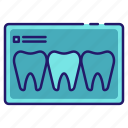 dental, dentistry, medical, mouth, teeth, teeth x-ray, x-ray icon