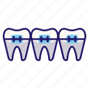 dental, dentistry, mouth, orthodontic, teeth, teeth braces icon