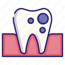 caries, dental, medical, mouth, tooth, tooth caries, toothache icon