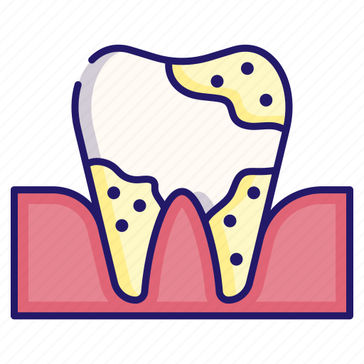 dental, dentistry, healthcare, hygiene, tartar, tooth, tooth plaque icon