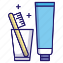 clean, dental, hygiene, teeth, tooth, toothbrush, toothpaste icon
