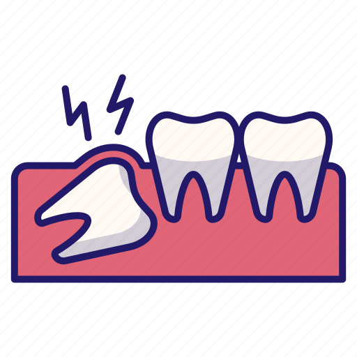 dental, dentistry, pain, teeth, tooth, toothache, wisdom tooth icon