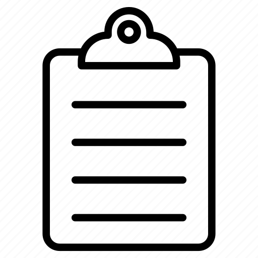 clipboard, document, paper, sheet icon