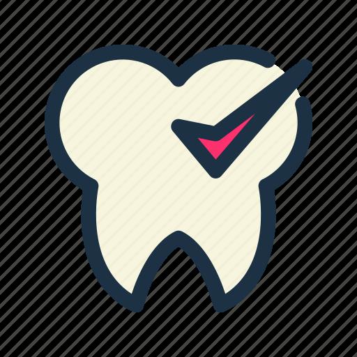 check, checkup, dental, dentist, tooth icon