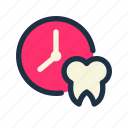 check, date, dental, schedule, time, tooth icon