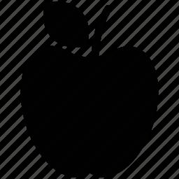 apple, apple with leaf, fresh apple, fruit, healthy, nutrient icon