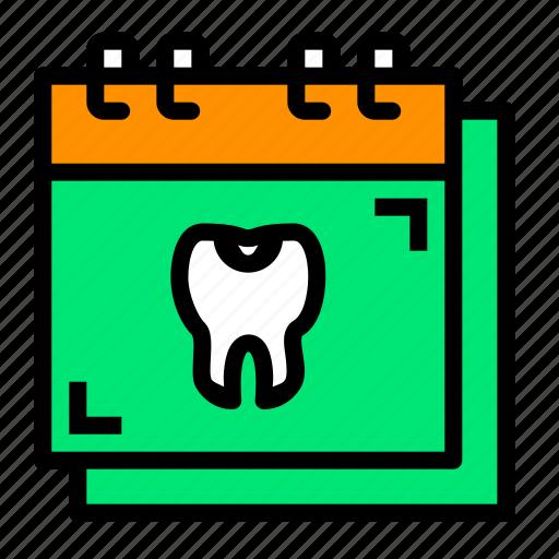 appointment, calendar, checkup, dental, dentist icon