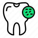 bacteria, caries, dirty, medical, perforated, teeth, tooth icon