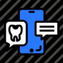 app, dental, dentist, message, mobile icon