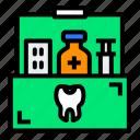 box, dentist, medical, medicine, storage, syringe icon