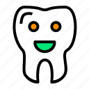 anatomy, avatar, happy, medical, smile, tooth icon