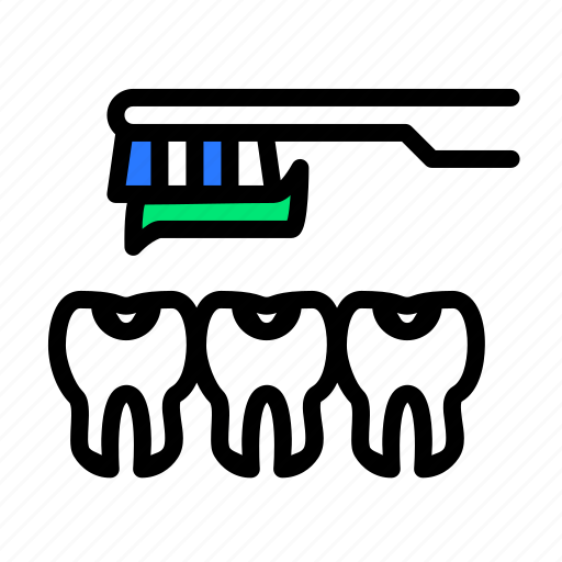 brush, cleaning, dentifrice, dentist, teeth, tooth, toothbrush icon
