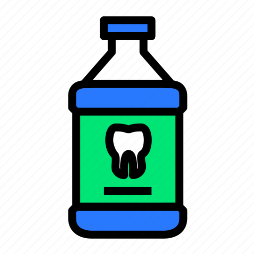 cleanliness, dental, dentist, hygiene, mouthwash, tooth icon
