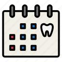 check up, dental, dentist, schedule, teeth, tooth icon