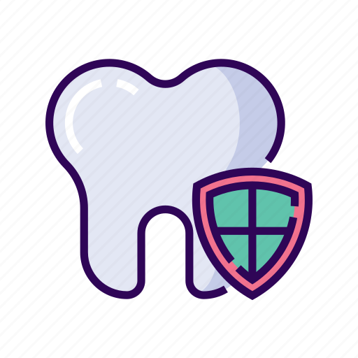 cavity, dental, dentist, oral, protect, shield, tooth icon