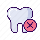cavity, cross, dentist, health, healthy, medical, oral, tooth icon