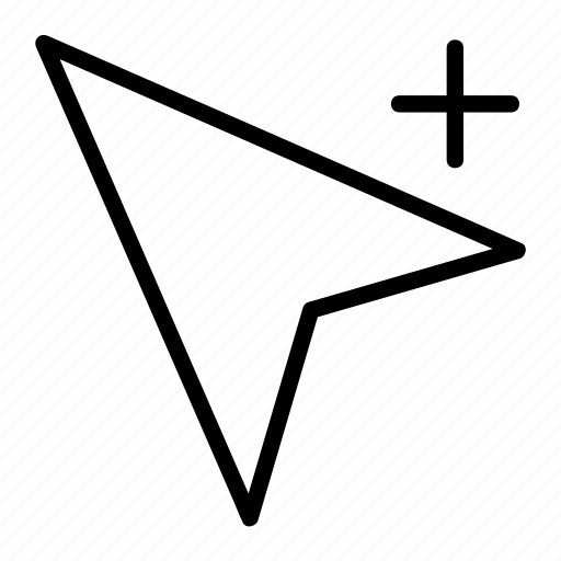 add, arrow, cursor, direction, location, pointer icon