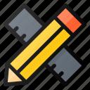 pencil, ruler, design, draw
